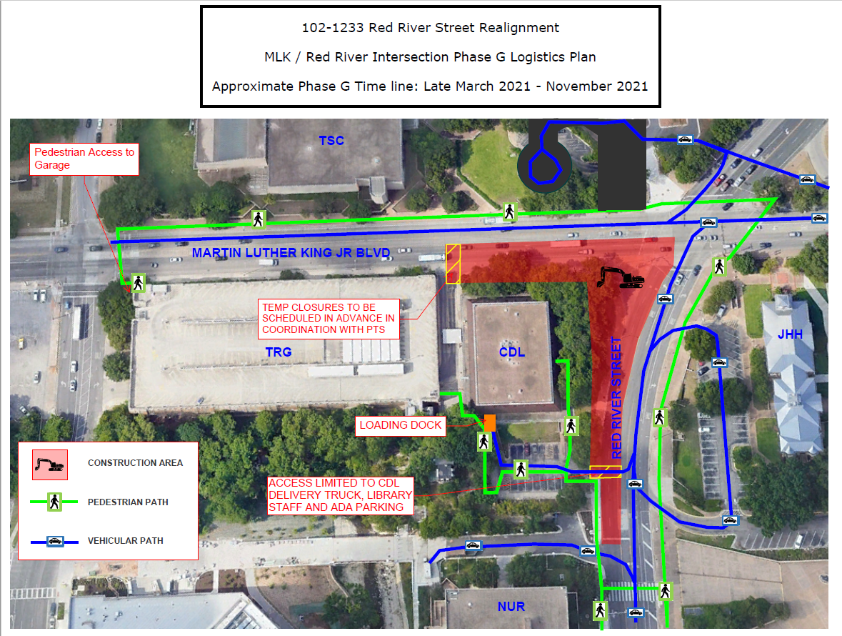 MLK/ Red River Intersection Phase G Logistics Plan