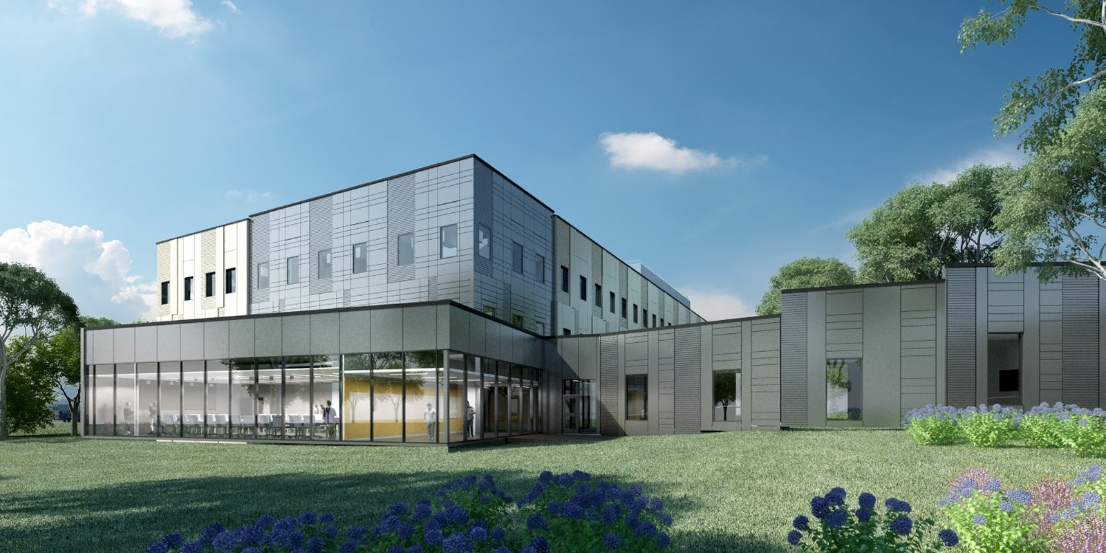 Exterior rendering of new office building at PRC for Applied Research Laboratories (ARL)