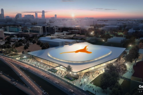 New Arena - Exterior Arial View Rendering