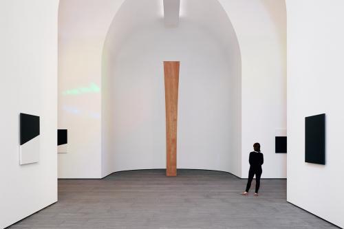 Interior of Austin a building installation by artist Ellsworth Kelly