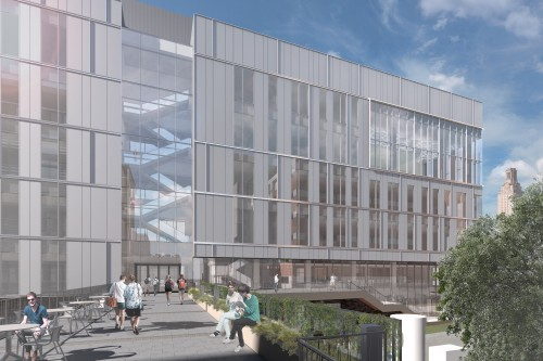 Energy Engineering Building rendering terrace view