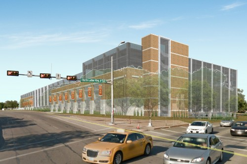 East Campus Parking Garage exterior rendering