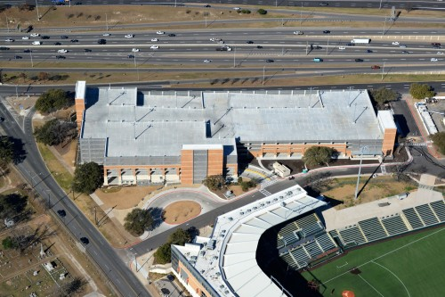 East Campus Parking Garage aerial view