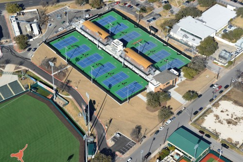 Texas Tennis Center aerial view