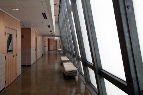 Lab wing corridor