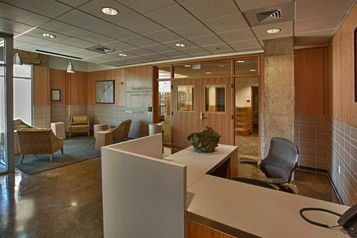 Estuarine Research Center welcome area interior shot