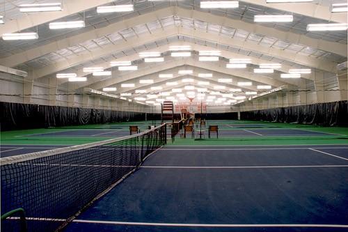 Indoor Tennis Facility interior shot
